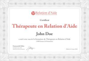 Certificat Thérapeute en Relation d'Aide - CFRA