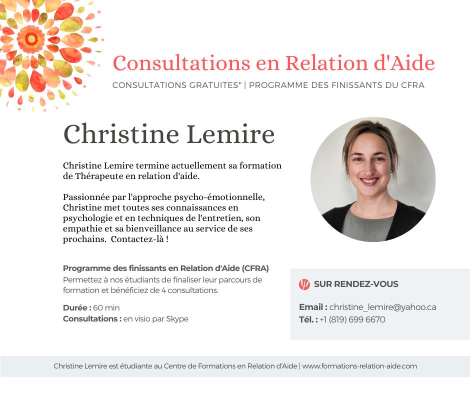 Consultation en ligne Thérapeute en Relation d'Aide