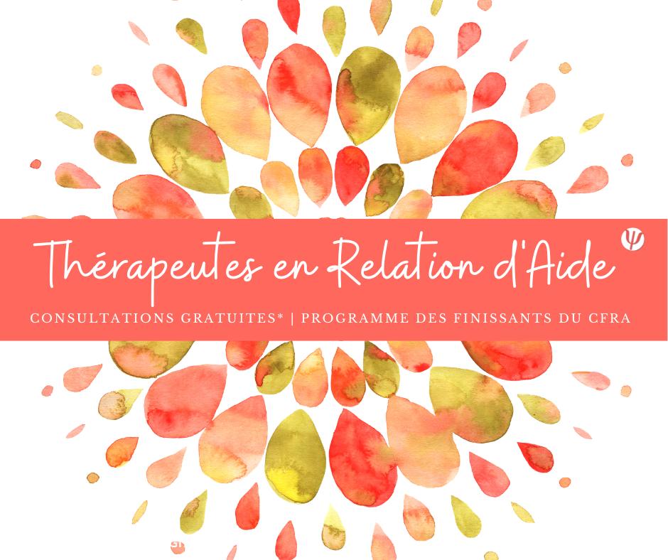 Programme Consultations Gratuites Thérapie Relation Aide